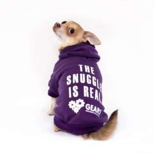 The Snuggle Is Real Dog Hoodie. GEARS Dog Apparel. Dog Clothing